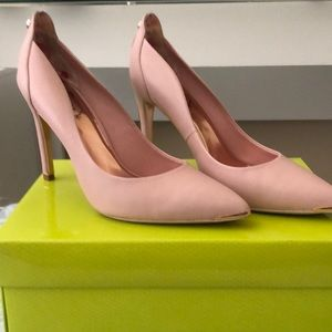 Ted baker pink leather heels size 39.5/9